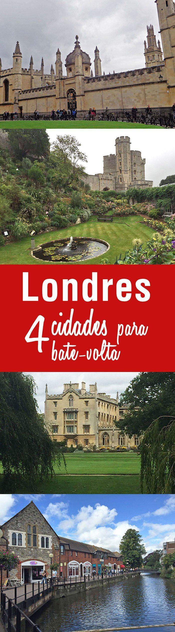 4 cidades para bate-volta partindo de Londres