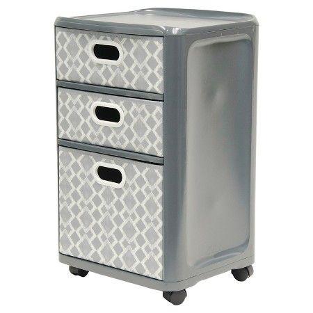 Home Logic 3-Drawer Storage Cart - Grey : Target