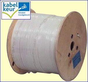 De KOKA799 is een zeer professionele coaxkabel die het hart vormt van uw centrale antenne installatie. Deze kabel heeft een afscherming van niet minder dan 90 dB en heeft bij 800 MHz een signaaldemping van slechts 18,5 dB per honderd meter. De ideale kabel voor het verdelen van radio- en TV-signalen door uw huis! Geleverd per 500 meter: nog goedkoper! http://www.vego.nl/hirschmann/koka799_500/koka799_500.htm