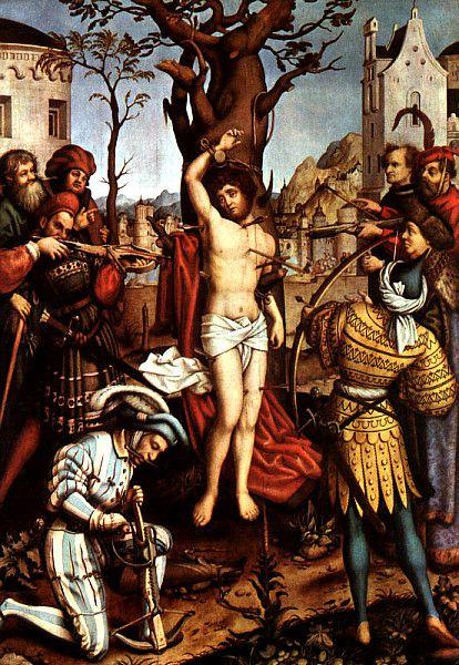Ганс Гольбейн Старший. Мученичество Святого Себастьяна. 1516 г. Старая Пинакотека, Мюнхен.