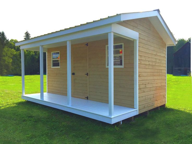 This is West Quebec Shed Company 12 x 20 Kiln Dried Shed. The customer has converted the building to be used as his swimming pool pump house and sauna. There is also a changing room inside with inside walls separating the pump and sauna room.