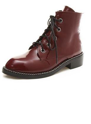 das mulheres botas de plataforma Botas Salto tornozelo salto baixo Leatherette Sapatos