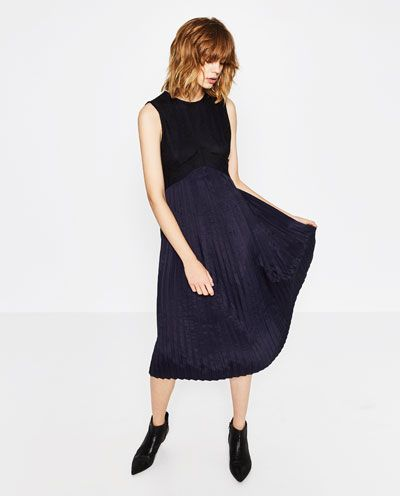 PLEATED DRESS-DRESSES-WOMAN | ZARA Serbia