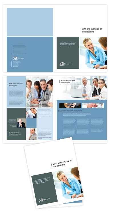HR management brochure template will be a good choice for presentations on HR management. Find brochure templates - download, edit & print!    SKU : BR090080LT  Page Size : 11in x 17in  Fold Type : Half Fold  Purchase Includes : Artwork, Images & Fonts  Software Requirement : Adobe Illustrator CS5    http://dlayouts.com/13-All-Items/642-HR-Management-Brochure-Template/flypage.tpl.html