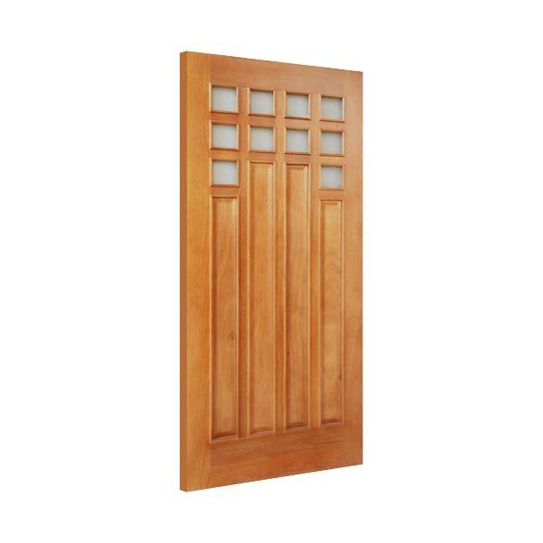 Puerta de madera natural 213 x 91 cm montealban puertas for Puerta exterior 120 cm