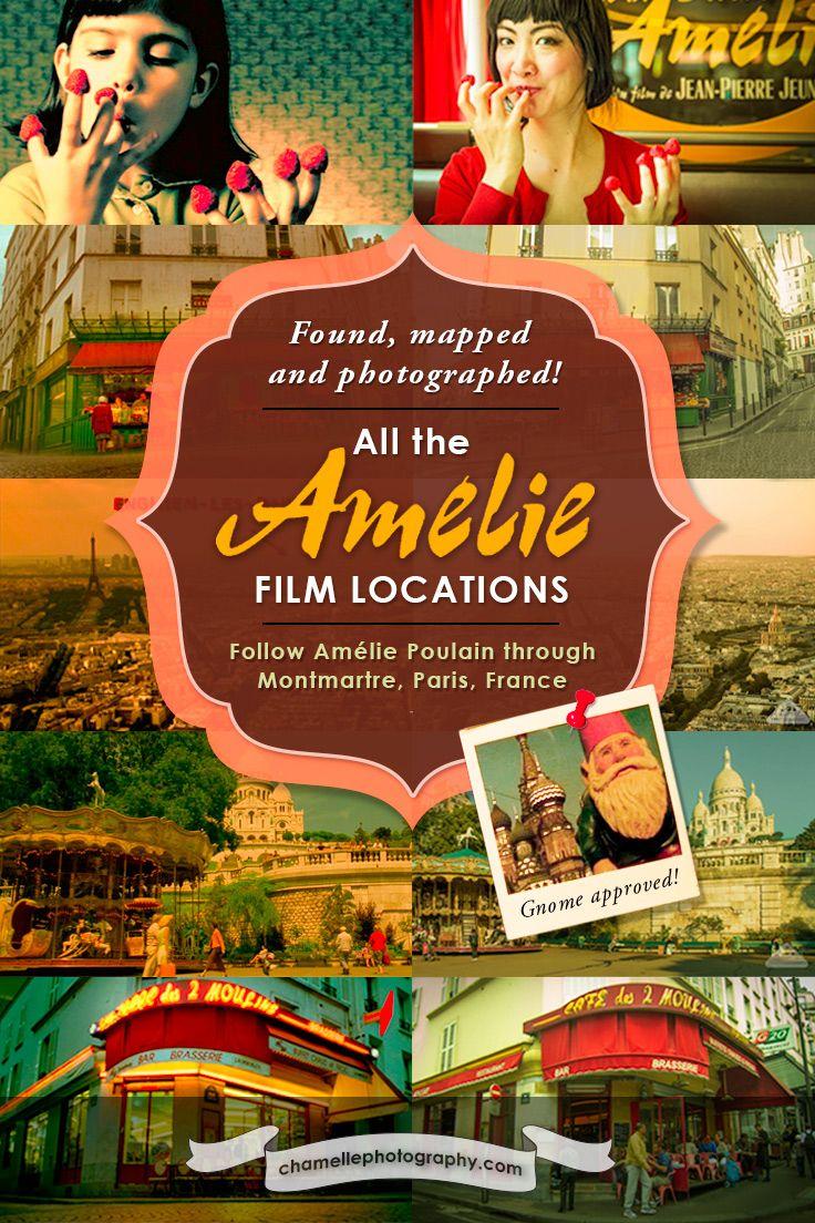 All the Amelie Poulain film locations Montmartre Paris France travel