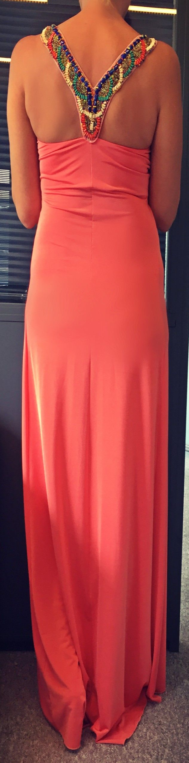 #Maxi #Coral #Dress with #Semi #Precious #Stones Discover more in our #Eshop #summerdress