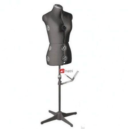 SIERA Buste de couture Mannequin femme réglable (Taille 36 à 42) - Modèle 150