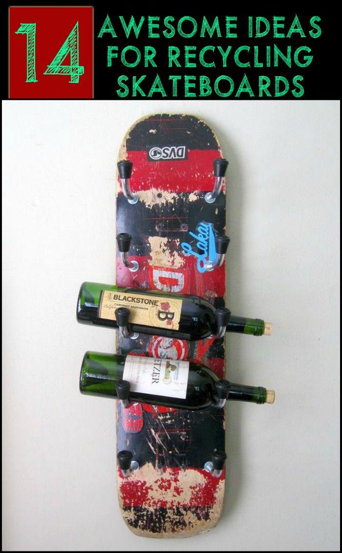 Cool Ways to Repurpose Old or Broken Skateboard Decks
