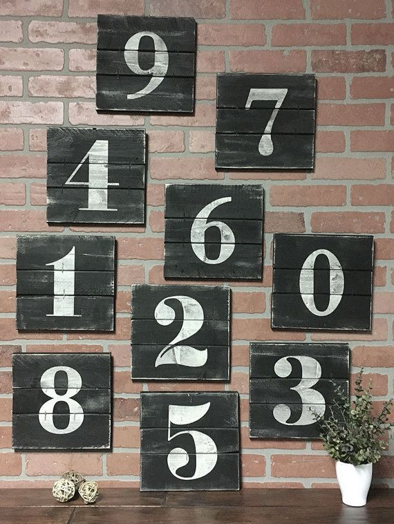 Farmhouse style house numbers