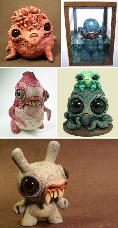 Chris Ryniak has created a whole host of baby monster sculptures that both chill and warm a heart.: