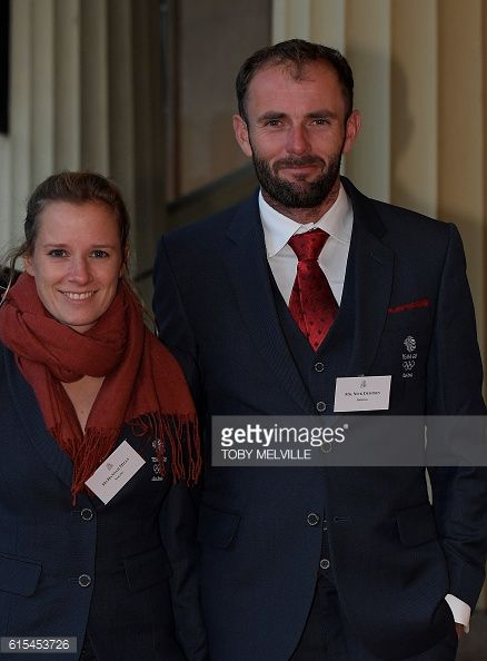 British Olympic athletes Hannah Mills and Nick Dempsey arrives to attend a reception for Team GB's Olympic and Paralympic athletes hosted by...