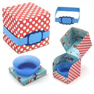 View Design: 'no mess' cup cake box