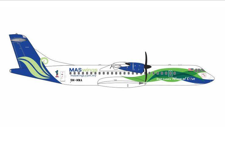 1/400 GeminiJets MASwings ATR-72 Diecast Model