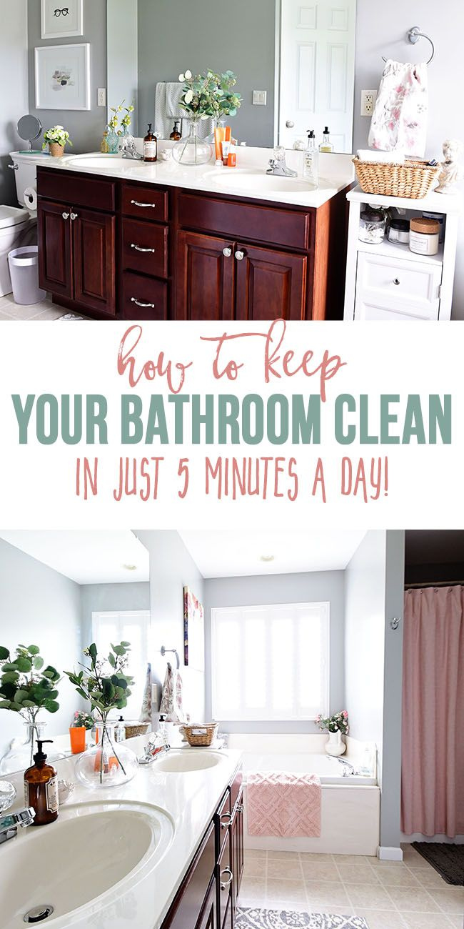 How To Keep Your Bathroom Clean In 5 Minutes A Day Bathroom Cleaning Bathroom Smells Cleaning Hacks