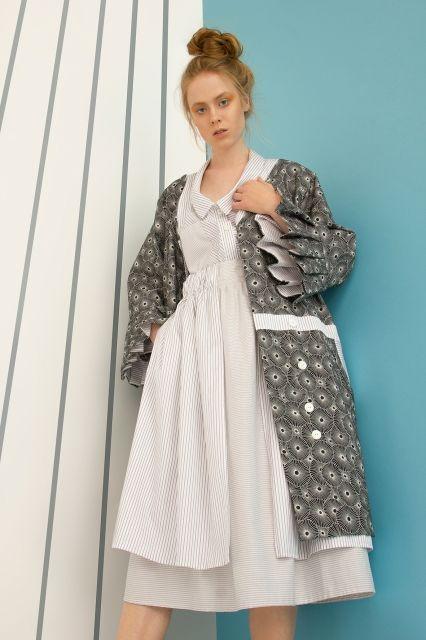 Dark grey Kimono in new MoMi-Ko spring summer 17 collection