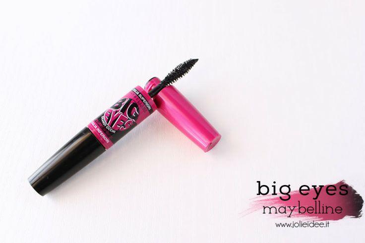 Review Mascara Big Eyes Maybelline - Per un effetto occhi grandi scovolino superiore #bigeyes #maybelline
