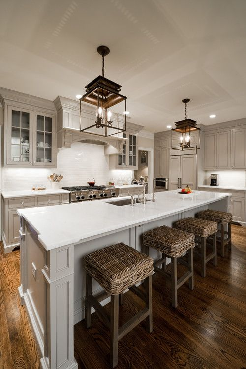 Charlotte NC Kitchens Roby General Gray Cabinets House Kitchen