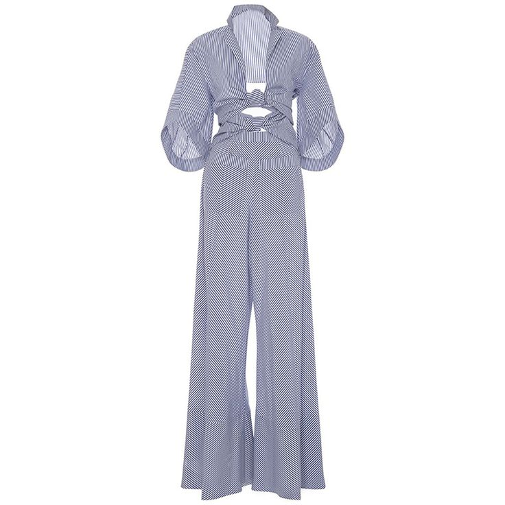Cheap womens rompers jumpsuit, Buy Quality sexy jumpsuit directly from China romper jumpsuit Suppliers: Bohoartist Women Rompers Jumpsuit Long Pants Elegant 2017 Autumn Blue Striped Shirts Playsuits Ladies Hollow Out Sexy Jumpsuit