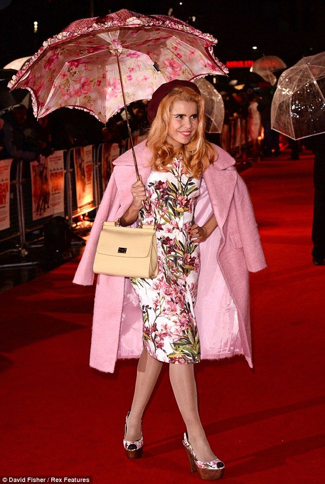 Paloma Faith stays dry in style as she attends Cuban Fury premiere #dailymail