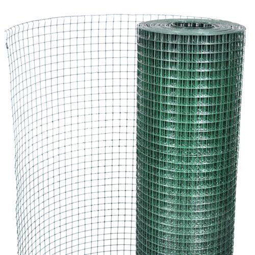 Vidaxl Grillage plastifié à mailles carrées 1m x 10 m,mailles 19 mm - pas cher Achat / Vente Clôture grillagée - RueDuCommerce