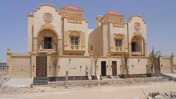واجهات حجر الرياض كريم اصفر ابيض الصفحة العربية House Styles Mansions Building