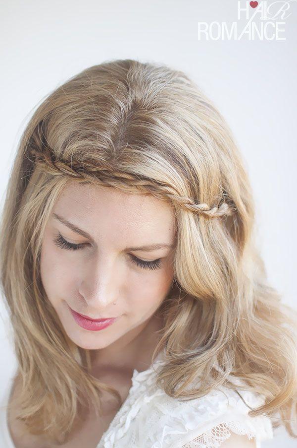 Twist & Pin – Rope braided headband hairstyle tutorial