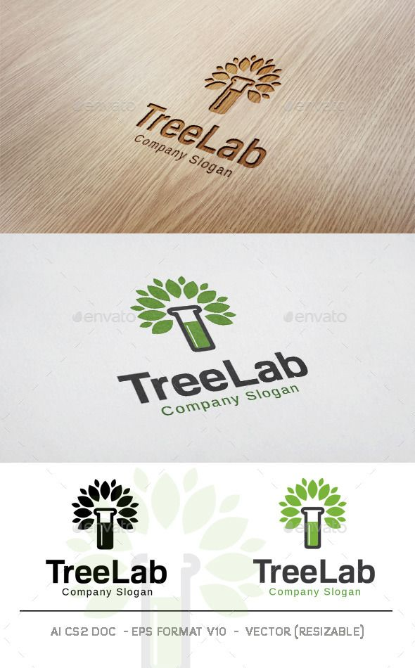 Tree Lab Logo Template PSD, Vector EPS, AI. Download here: http://graphicriver.net/item/tree-lab-logo/11831903?ref=ksioks