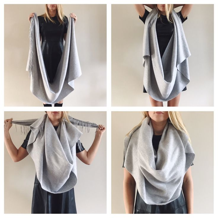Vier manieren om Inez Cashmere sjaals te dragen   Four ways to wear cashmere scarfs this winter!