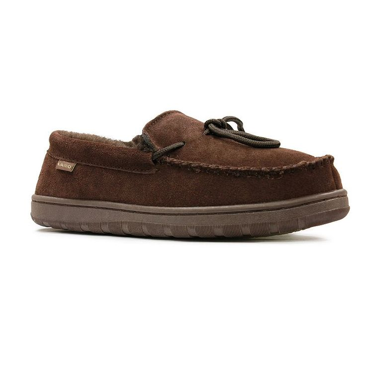 LAMO Men's Moccasin Slippers, Size: medium (10), Brown