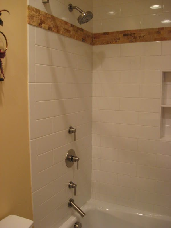 Does anyone know how large subways in the shower look our for 6x9 bathroom ideas