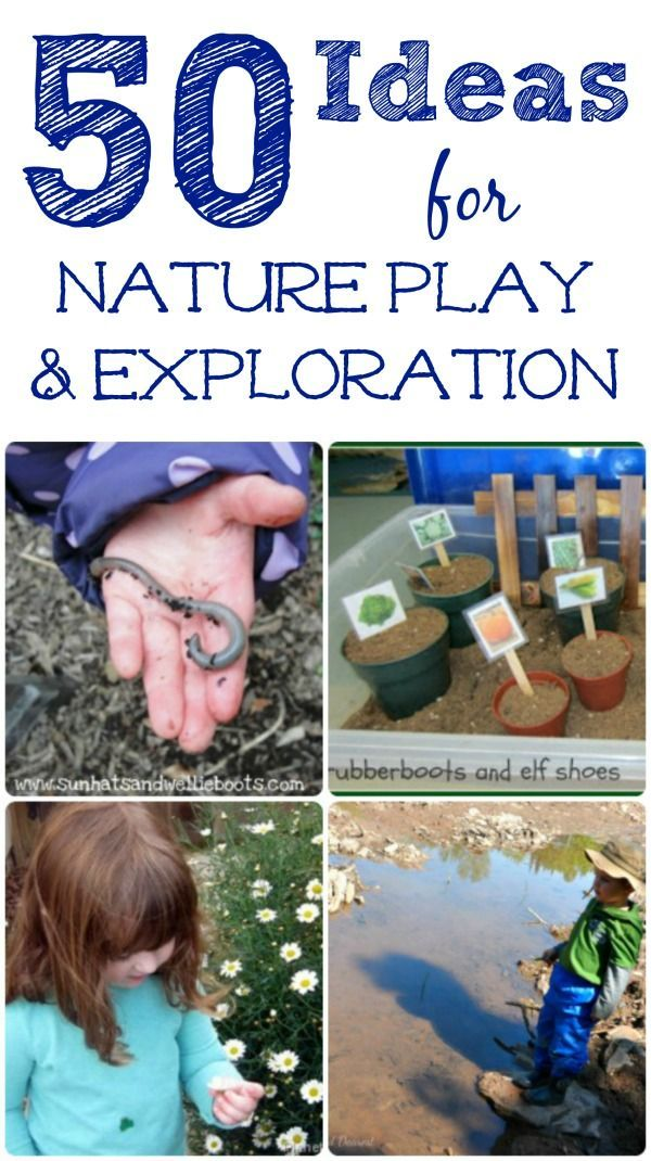 Great Nature Activities for kids!  outdoor play ideas, nature crafts, STEM and gardening - how will your kids explore this year?