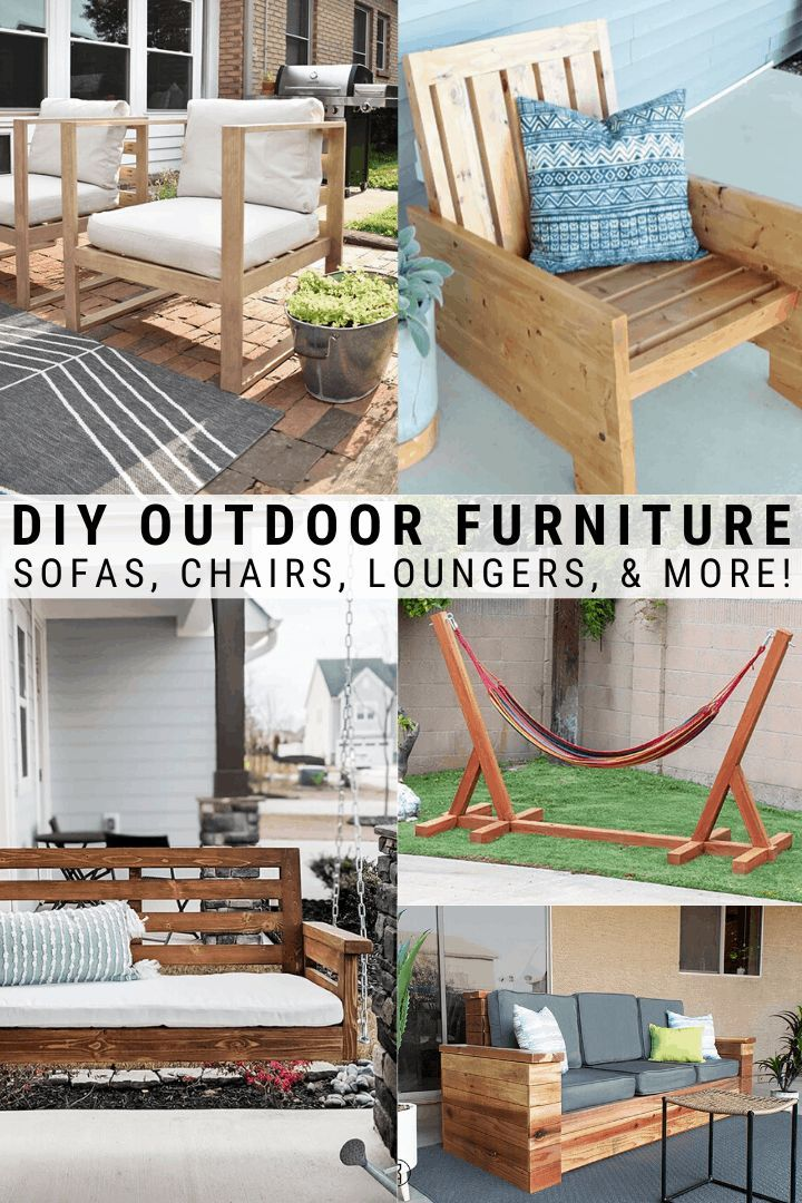 Diy Outdoor Furniture Ideas Diy Projects You Can Build For Your Patio Diy Outdoor Furniture Outdoor Furniture Ideas Backyards Patio Projects