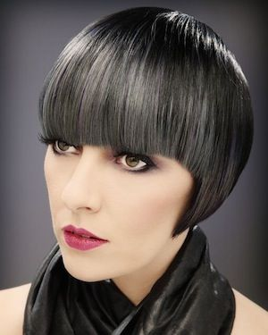 image result for gunmetal grey hair  short hair with