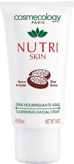 CREME NUTRI SKIN (50 ml)  Nährende Gesichtscreme für Tag und Nacht.  Ein Genuss für anspruchsvolle Haut die Pflege braucht. Diese Creme besteht aus essentiellen Fettsäuren der Shea Butter, Kamelienöl und Vitamin F. Die cremige Textur zieht schnell in die Haut ein. Tag für Tag gewinnt Ihr Gesicht Gleichgewicht und Schönheit der Natur. http://www.best-kosmetik.de/marken/cosmecology/creme-nutri-skin.html