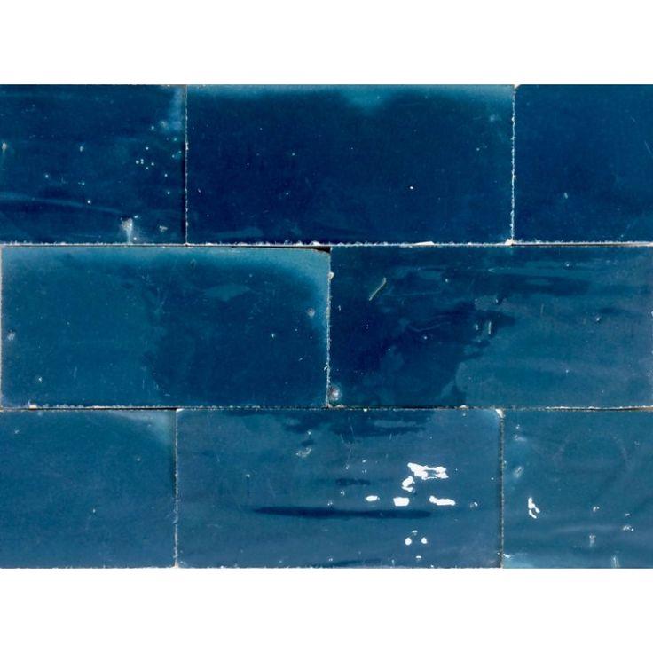 Zellige Tile Dark Turquoise 15cm x 7.5cm