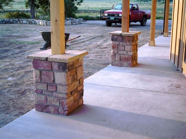 how to build a stone porch