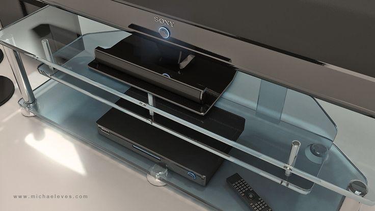 3D Sony Tv Stand Model - 3D Model