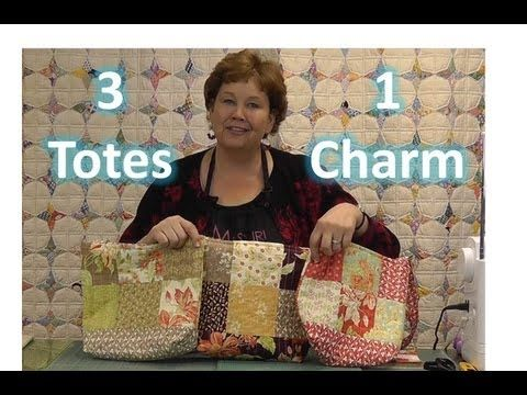 ▶ Make Three Totes / Purses With One Charm Pack! - YouTube