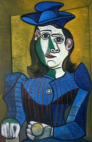 """Pablo Picasso - """"Bust of Woman with Hat"""", 1962"""