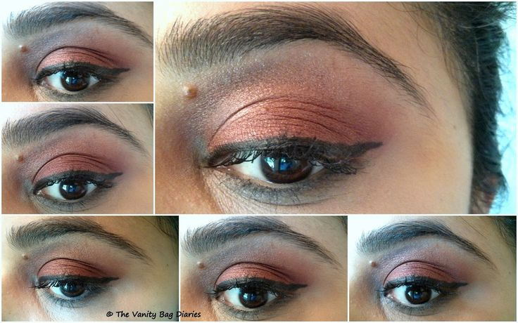 Today, I have a super simple, easy, coppery brown eye look.There are some eye shadows that look great just on their own and don't need a crease color, Colorbar Spicy brown is one of them.Check my previous post on 'One eyeshadow makeup'.  Products Used