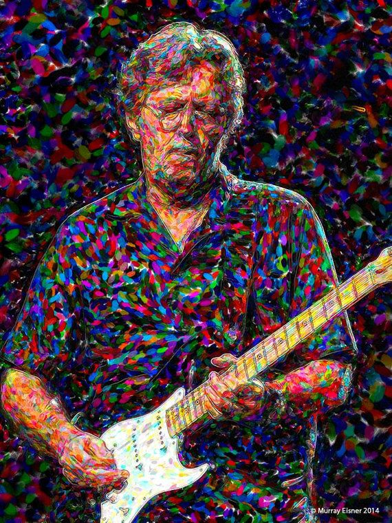 Eric clapton 4 rock roll painting art print on by for Eric mural painter
