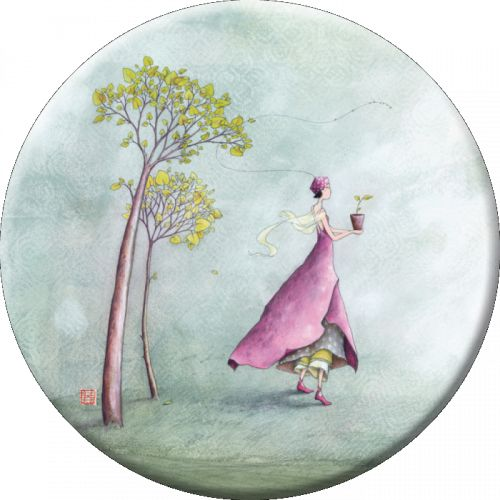 "Gaëlle Boissonnard magnet grand format (88 mm) ""Candide"""
