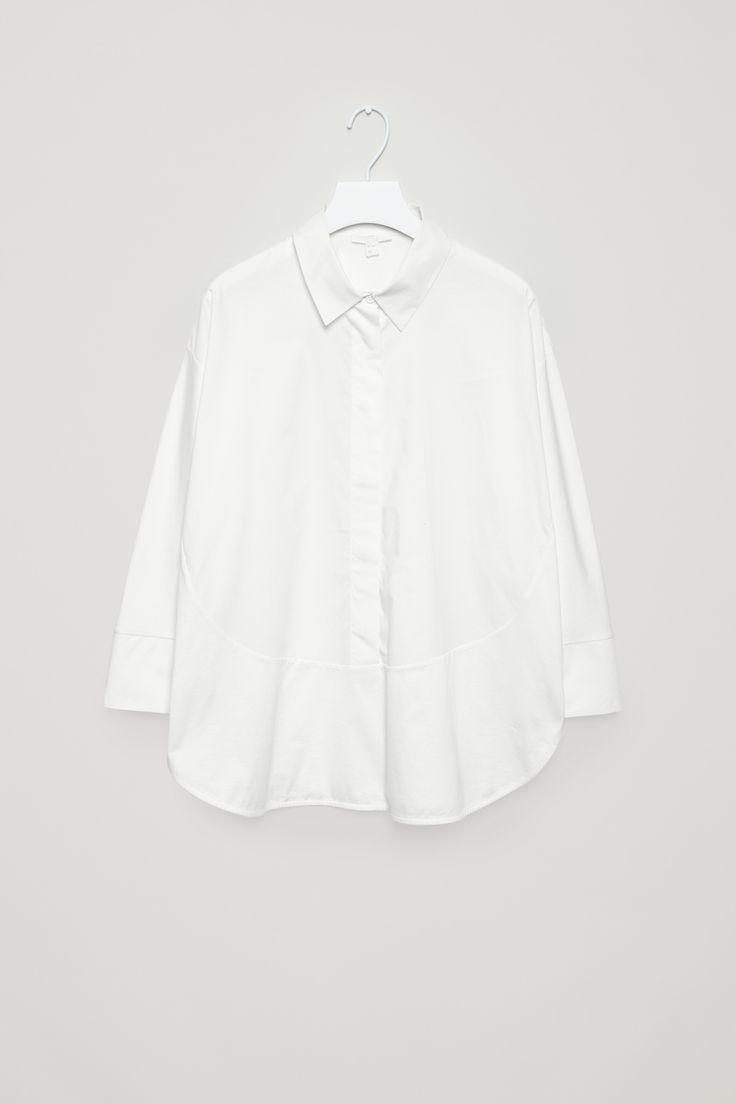Cotton poplin and jersey shirt