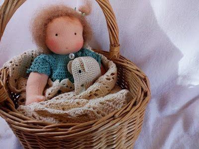 Anki-Art, de kunst van eenvoud: Nieuw model popje met zand en wol gevuld