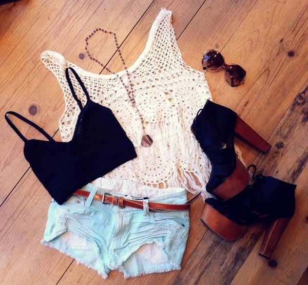 .: Shoes, Summer Fashion, Crop Tops, Summer Style, Cute Outfits, Cute Summer Outfits, Style Summer, Style Clothing, Summer Clothing
