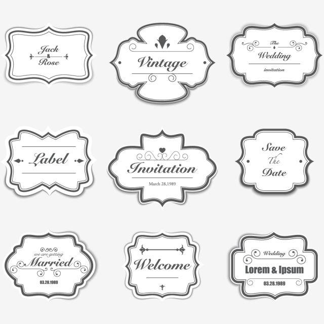 Diferente Forma De Invitacion Invitacion Clipart Etiqueta Forma Png Y Vector Para Descargar Gratis Pngtree Wedding Badges Invitation Clipart Clip Art