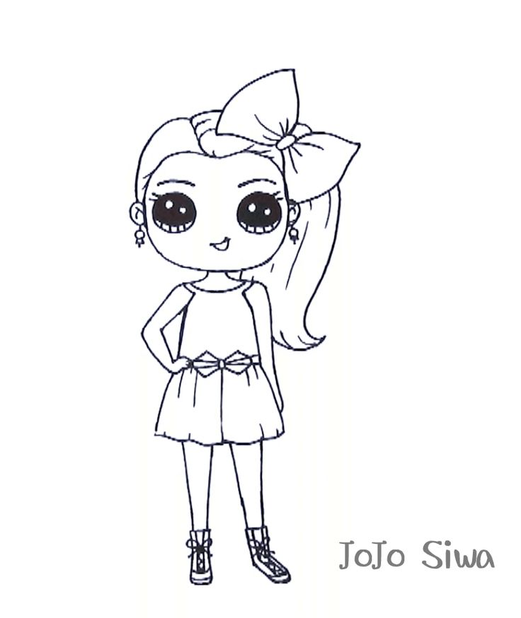 Jojo Siwa Coloring Sheets Free Not Pritable Be Cause I Cant Print It