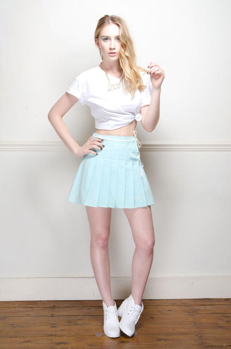 Vintage mint green Sergio Tacchini tennis skirt - Skirts - Womens Vintage   Retro & Vintage Clothes UK