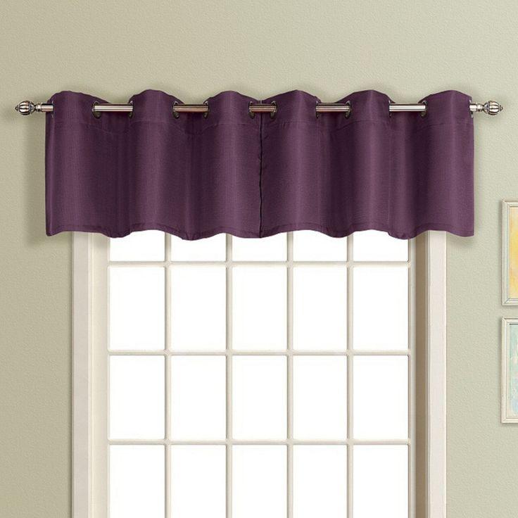 Short Purple Window Curtains